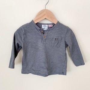 Zara | Baby Boy Long Sleeve Shirt 3-6 Month